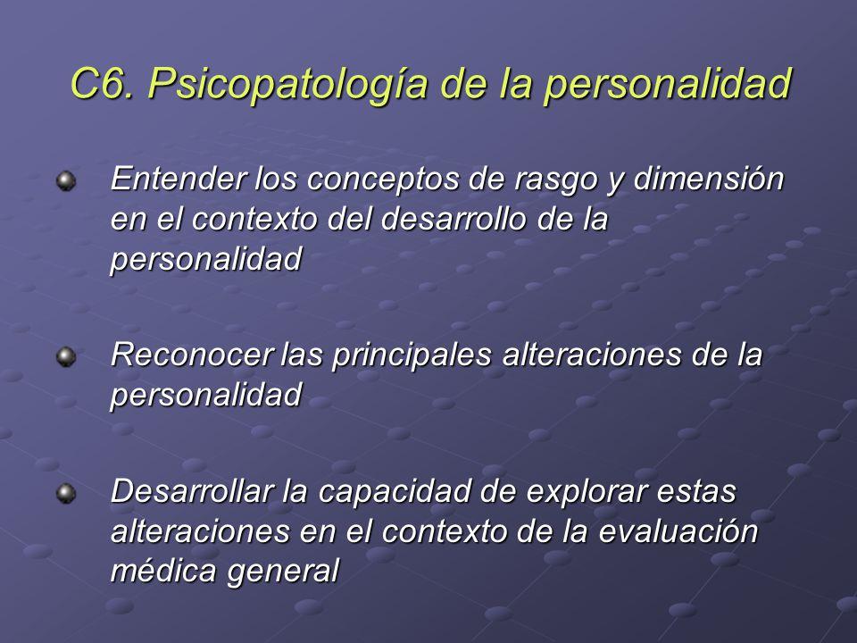C6. Psicopatología de la personalidad
