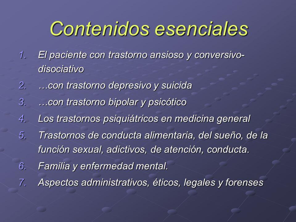 Contenidos esenciales