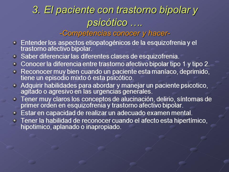 3. El paciente con trastorno bipolar y psicótico …