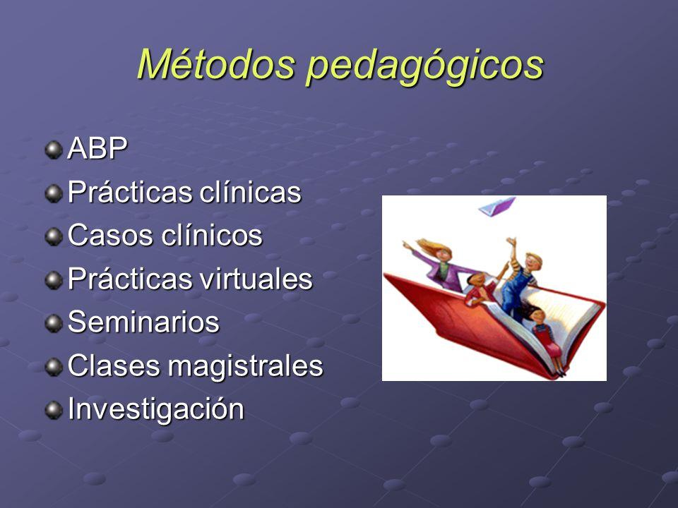 Métodos pedagógicos ABP Prácticas clínicas Casos clínicos