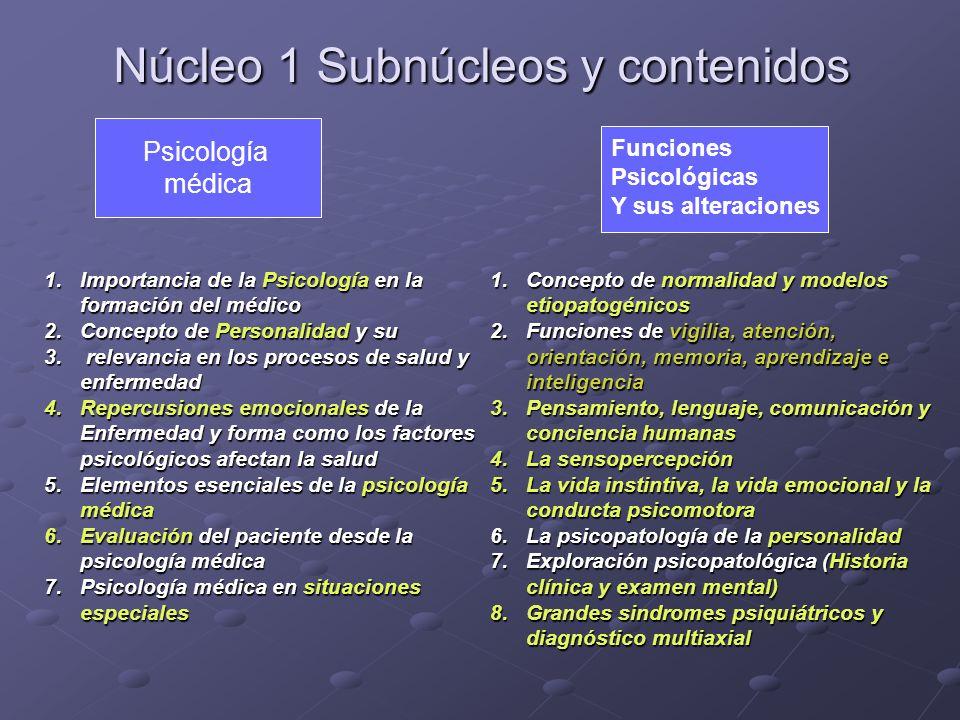 Núcleo 1 Subnúcleos y contenidos