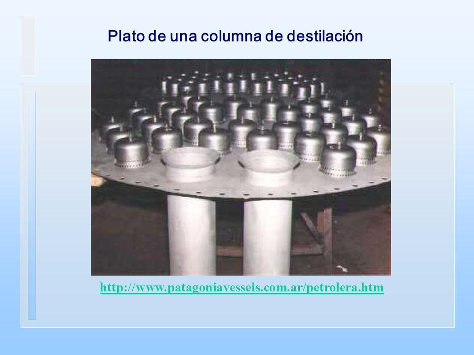 Plato de una columna de destilación