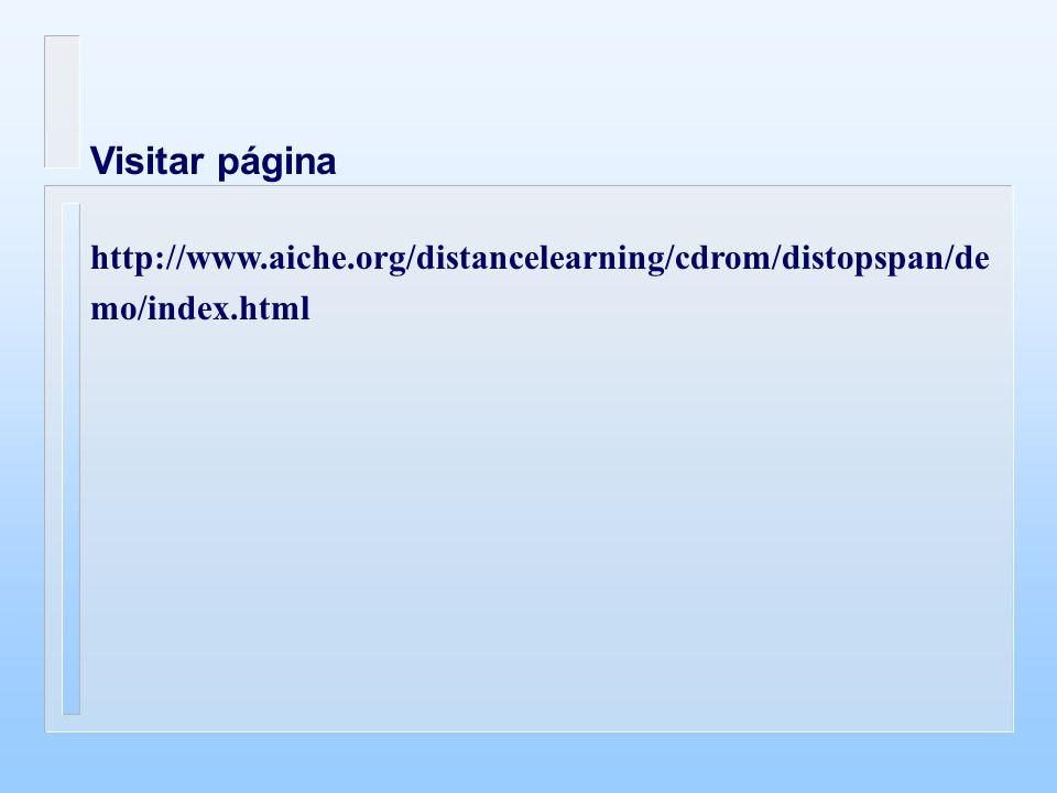 Visitar página http://www.aiche.org/distancelearning/cdrom/distopspan/demo/index.html