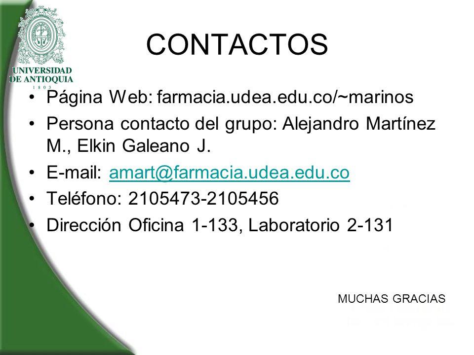 CONTACTOS Página Web: farmacia.udea.edu.co/~marinos