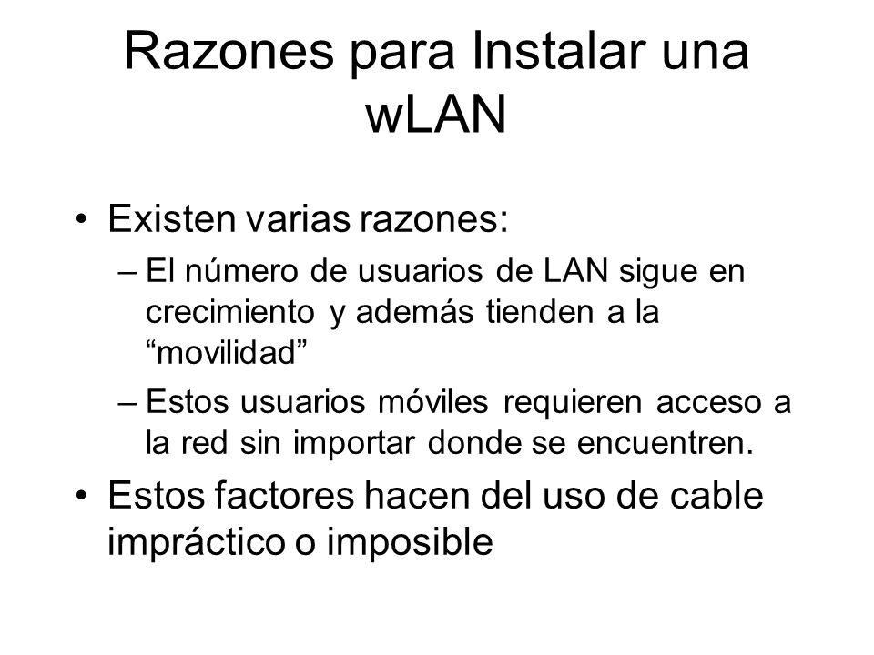 Razones para Instalar una wLAN