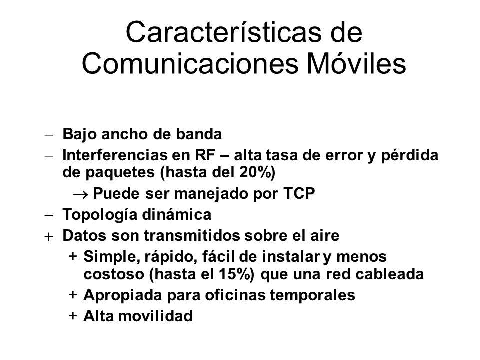 Características de Comunicaciones Móviles