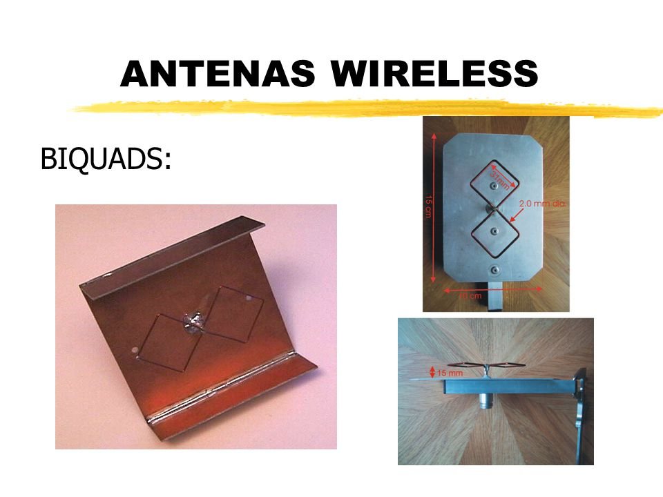 ANTENAS WIRELESS BIQUADS: