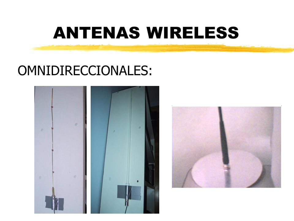ANTENAS WIRELESS OMNIDIRECCIONALES: