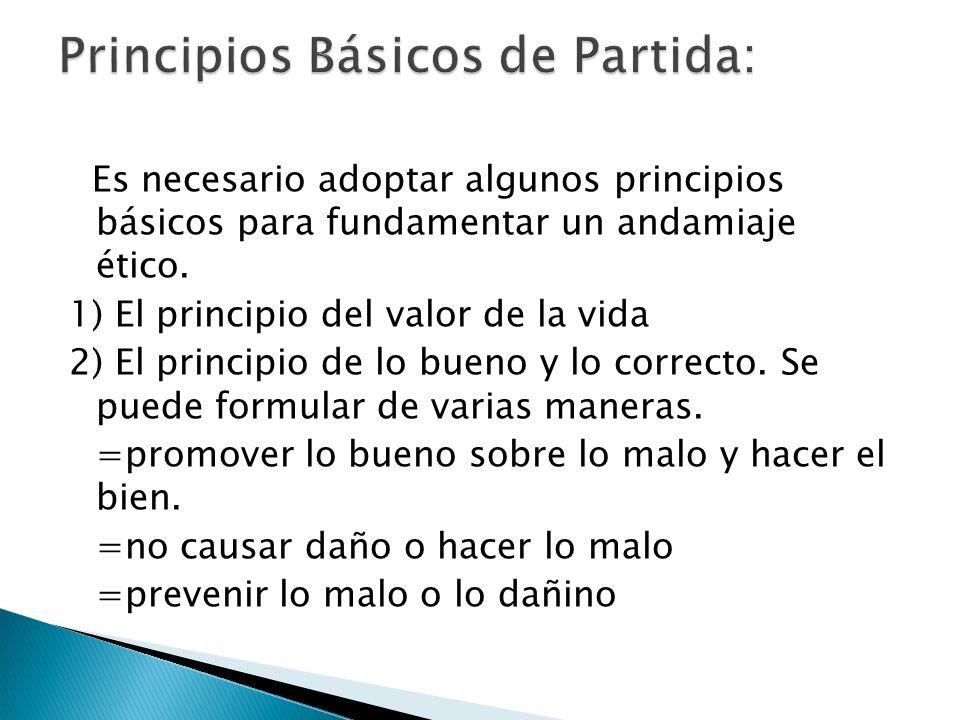 Principios Básicos de Partida:
