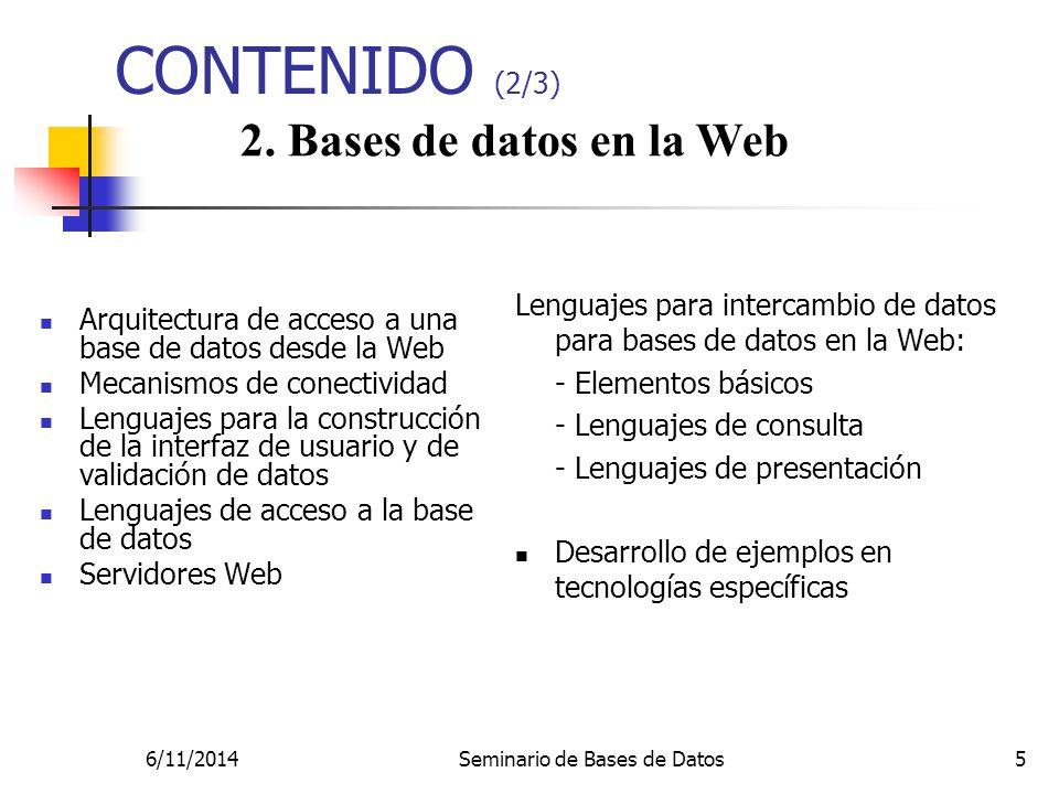 Seminario de Bases de Datos