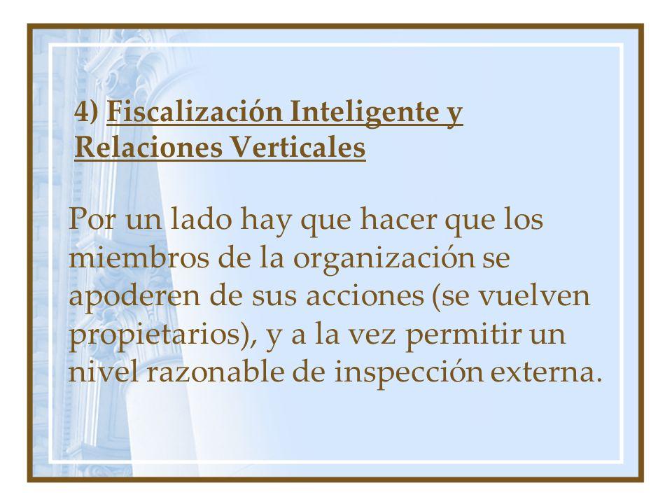 4) Fiscalización Inteligente y Relaciones Verticales