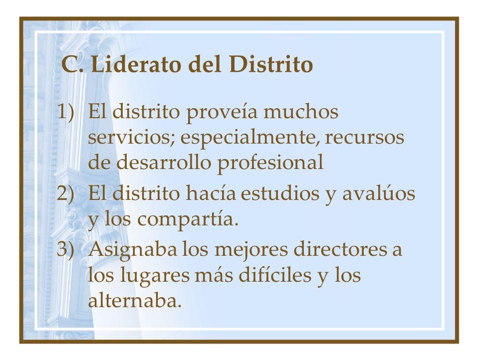 C. Liderato del Distrito