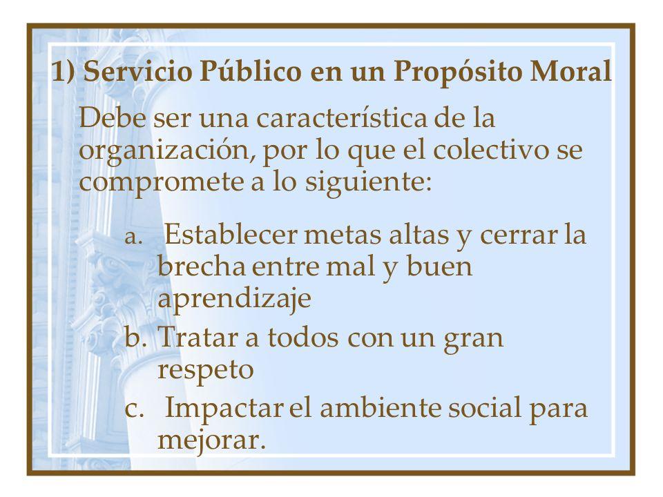 1) Servicio Público en un Propósito Moral