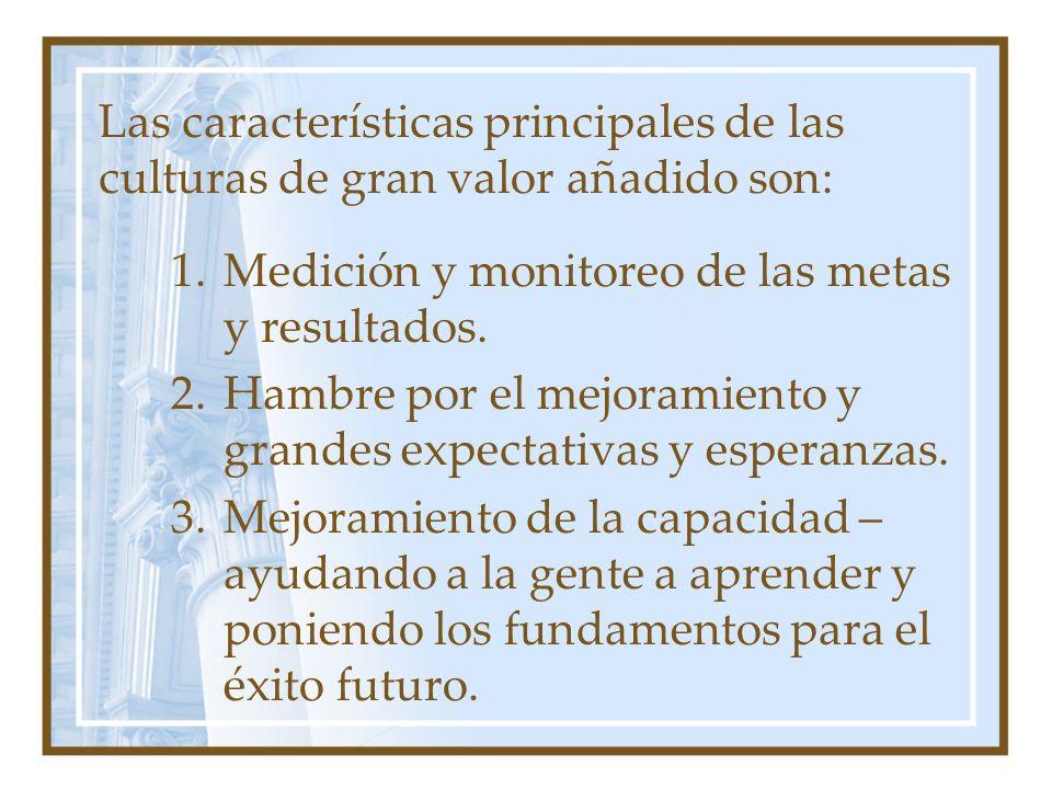 Las características principales de las culturas de gran valor añadido son: