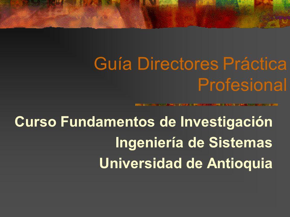 Guía Directores Práctica Profesional