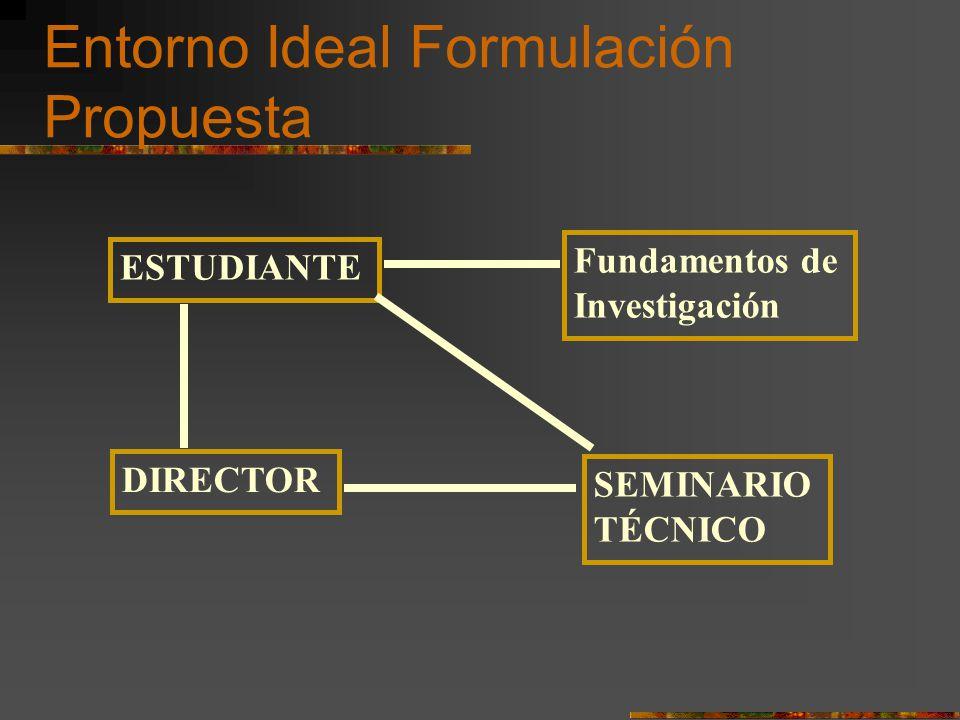 Entorno Ideal Formulación Propuesta