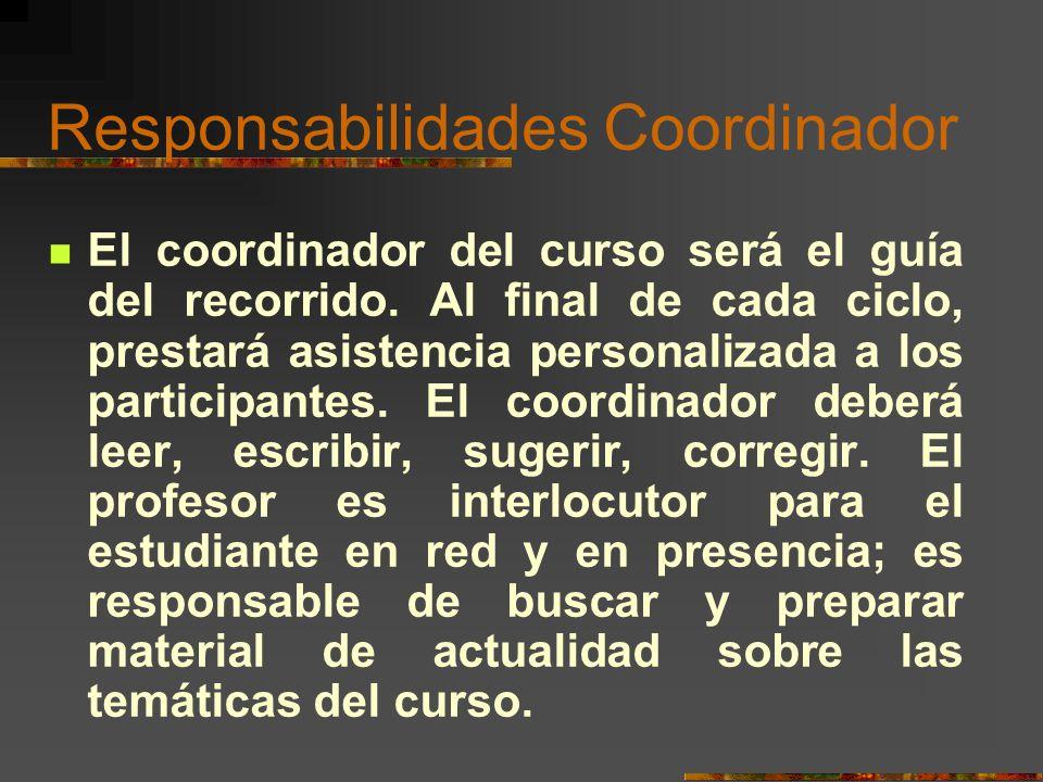 Responsabilidades Coordinador