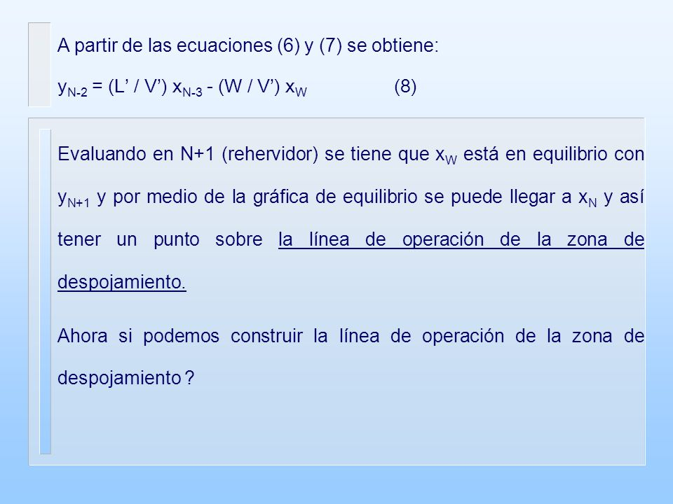 A partir de las ecuaciones (6) y (7) se obtiene: