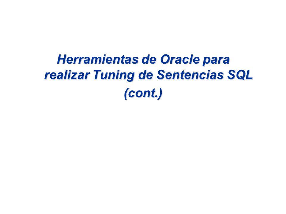 Herramientas de Oracle para realizar Tuning de Sentencias SQL