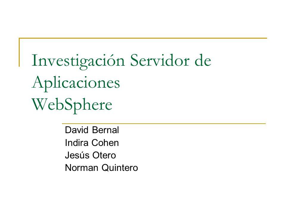 Investigación Servidor de Aplicaciones WebSphere