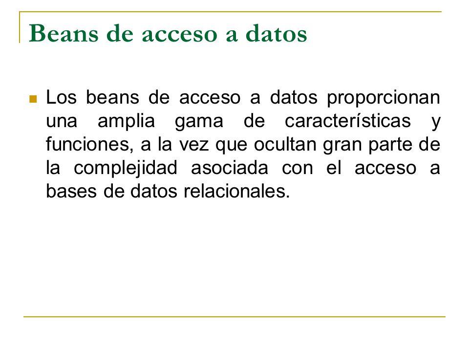 Beans de acceso a datos