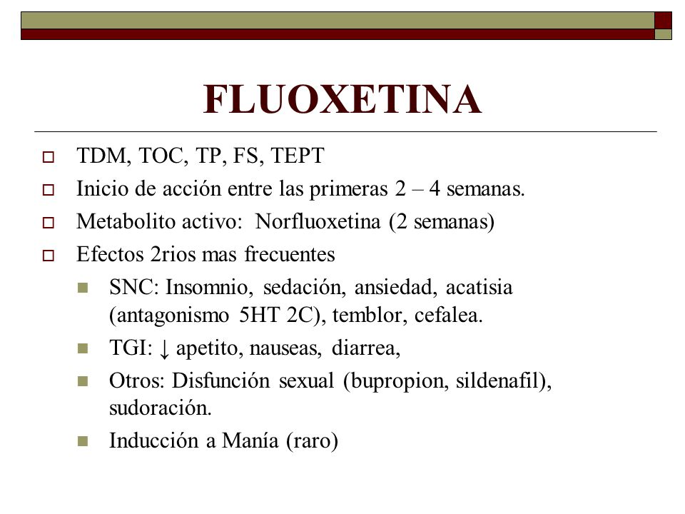 FLUOXETINA TDM, TOC, TP, FS, TEPT
