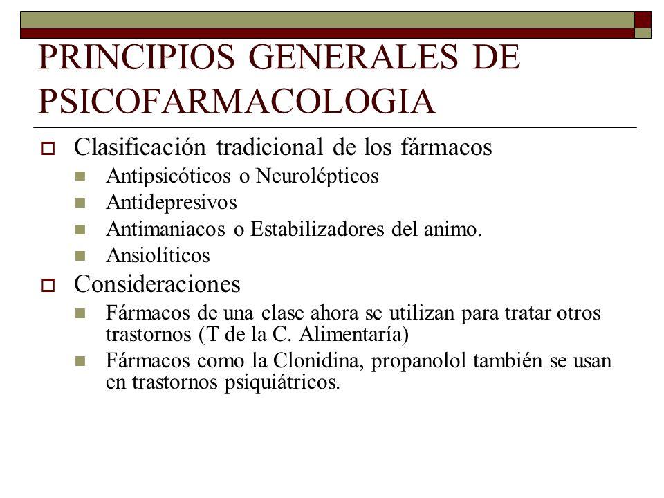 PRINCIPIOS GENERALES DE PSICOFARMACOLOGIA