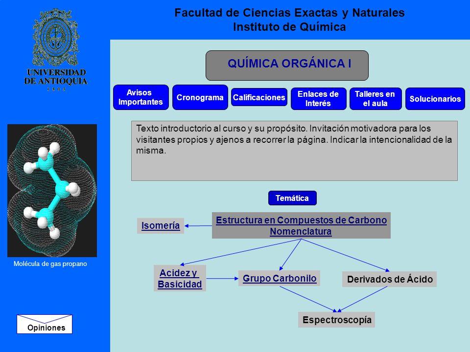 Facultad de Ciencias Exactas y Naturales Instituto de Química