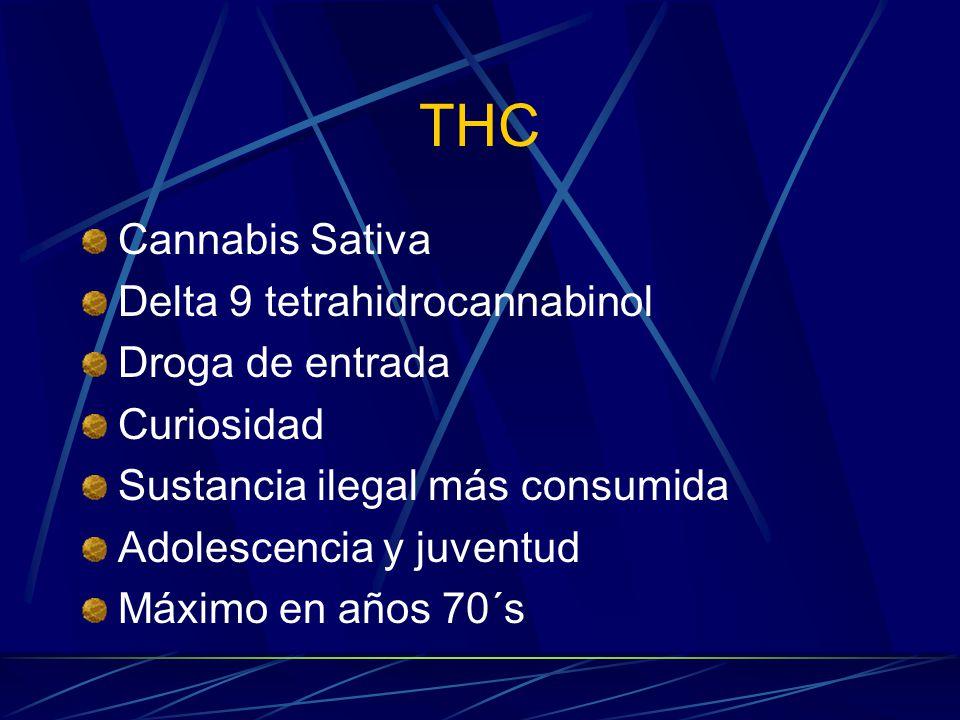 THC Cannabis Sativa Delta 9 tetrahidrocannabinol Droga de entrada