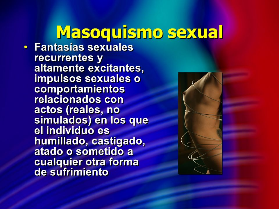 Masoquismo sexual