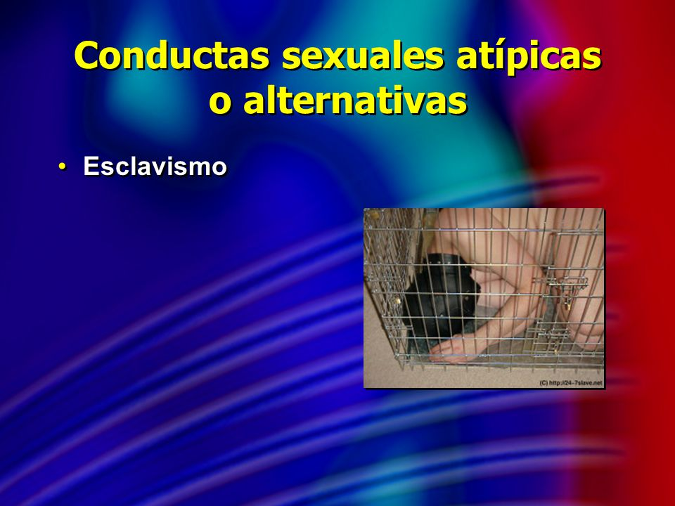 Conductas sexuales atípicas o alternativas