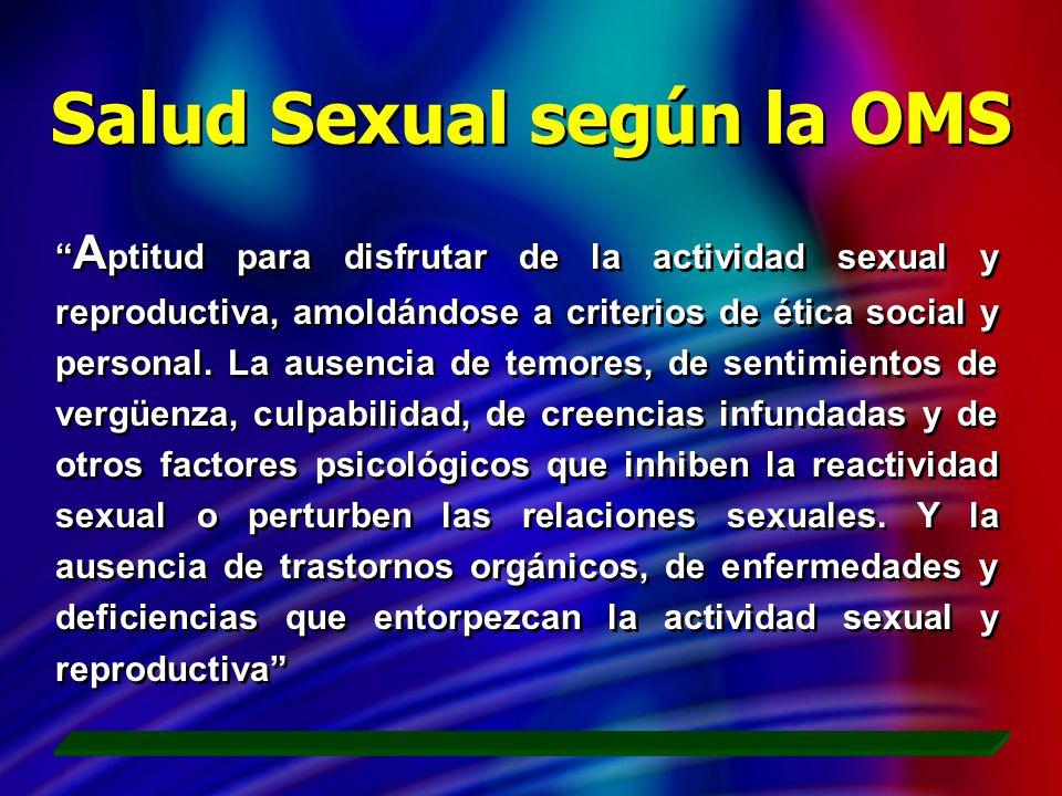 Salud Sexual según la OMS
