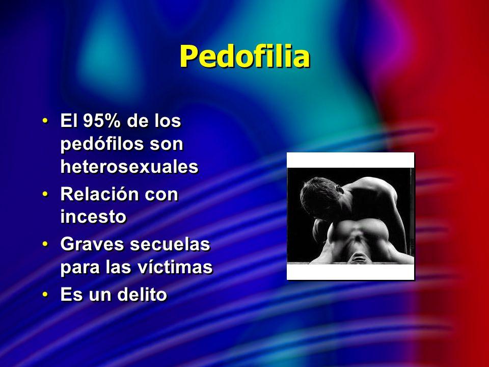 Pedofilia El 95% de los pedófilos son heterosexuales
