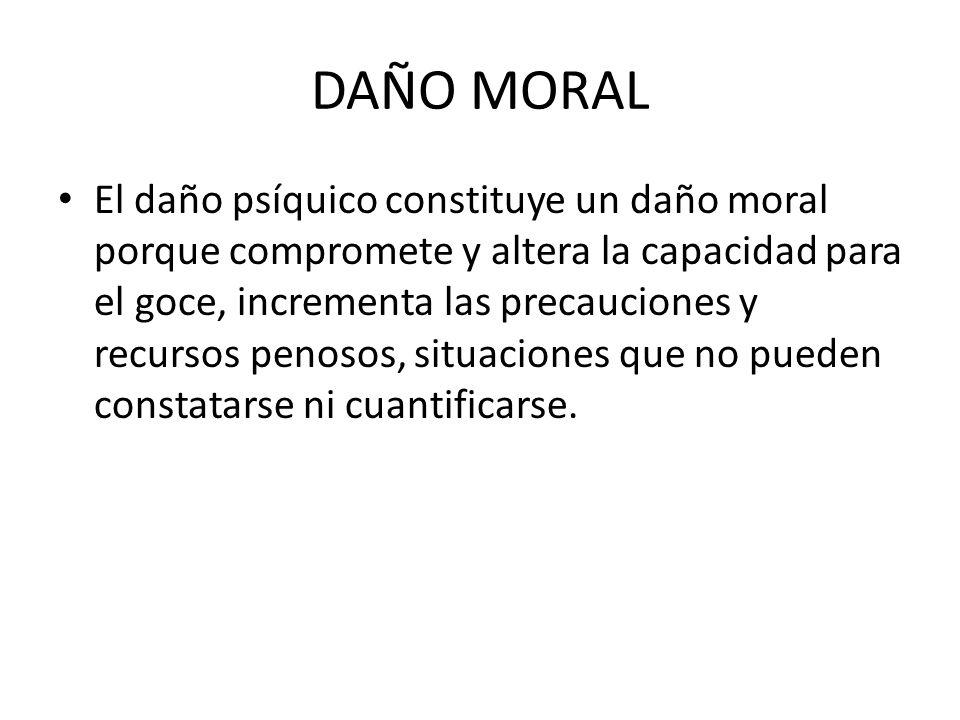 DAÑO MORAL