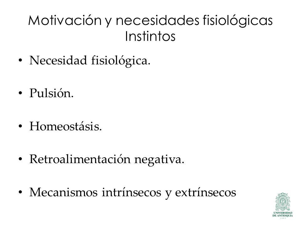 Motivación y necesidades fisiológicas Instintos
