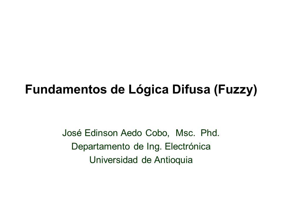 Fundamentos de Lógica Difusa (Fuzzy)
