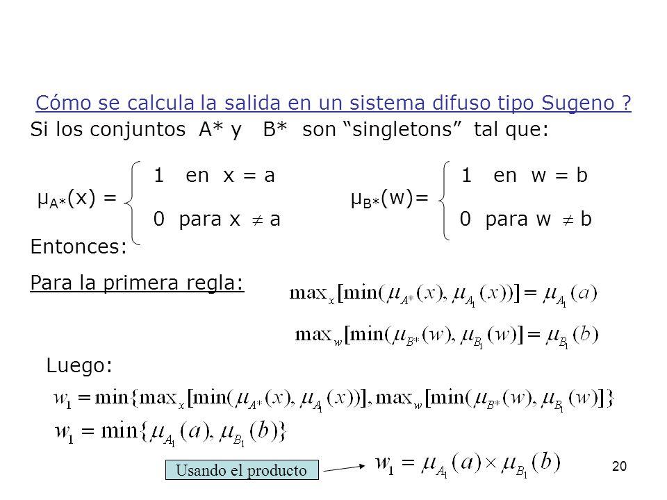 Si los conjuntos A* y B* son singletons tal que: