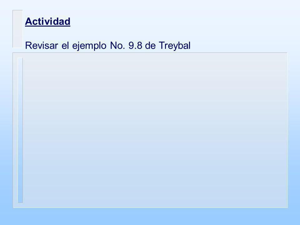 Actividad Revisar el ejemplo No. 9.8 de Treybal