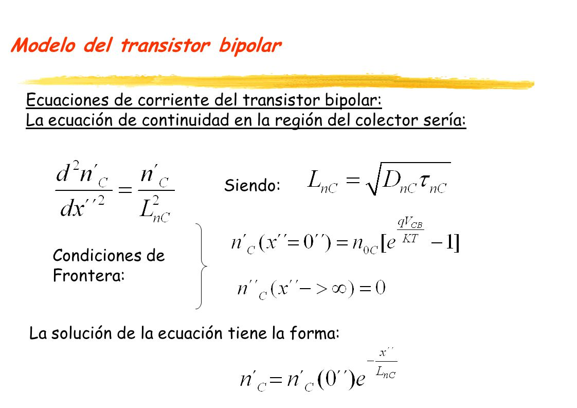 Modelo del transistor bipolar