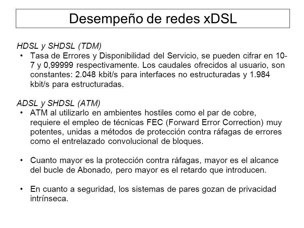 Desempeño de redes xDSL