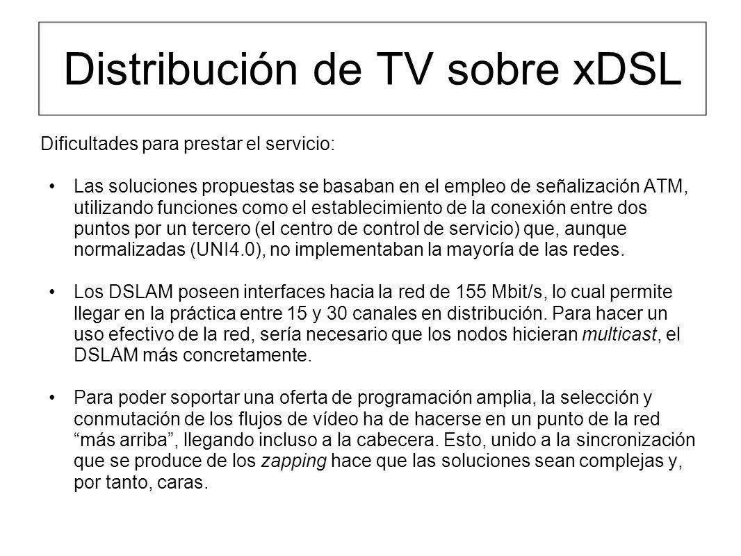 Distribución de TV sobre xDSL