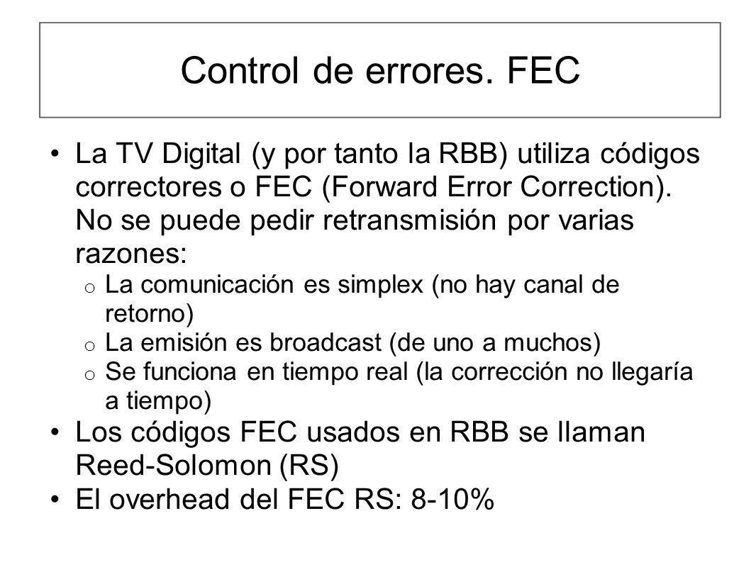Control de errores. FEC