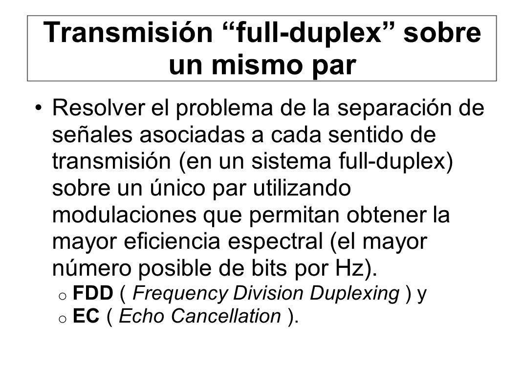 Transmisión full-duplex sobre un mismo par