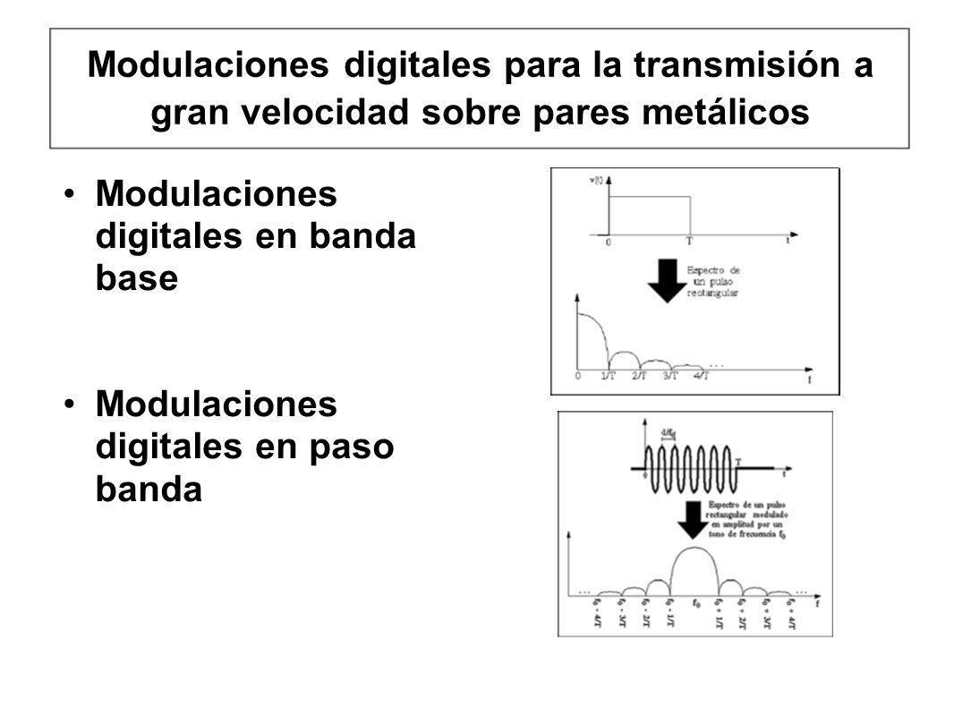 Modulaciones digitales para la transmisión a gran velocidad sobre pares metálicos