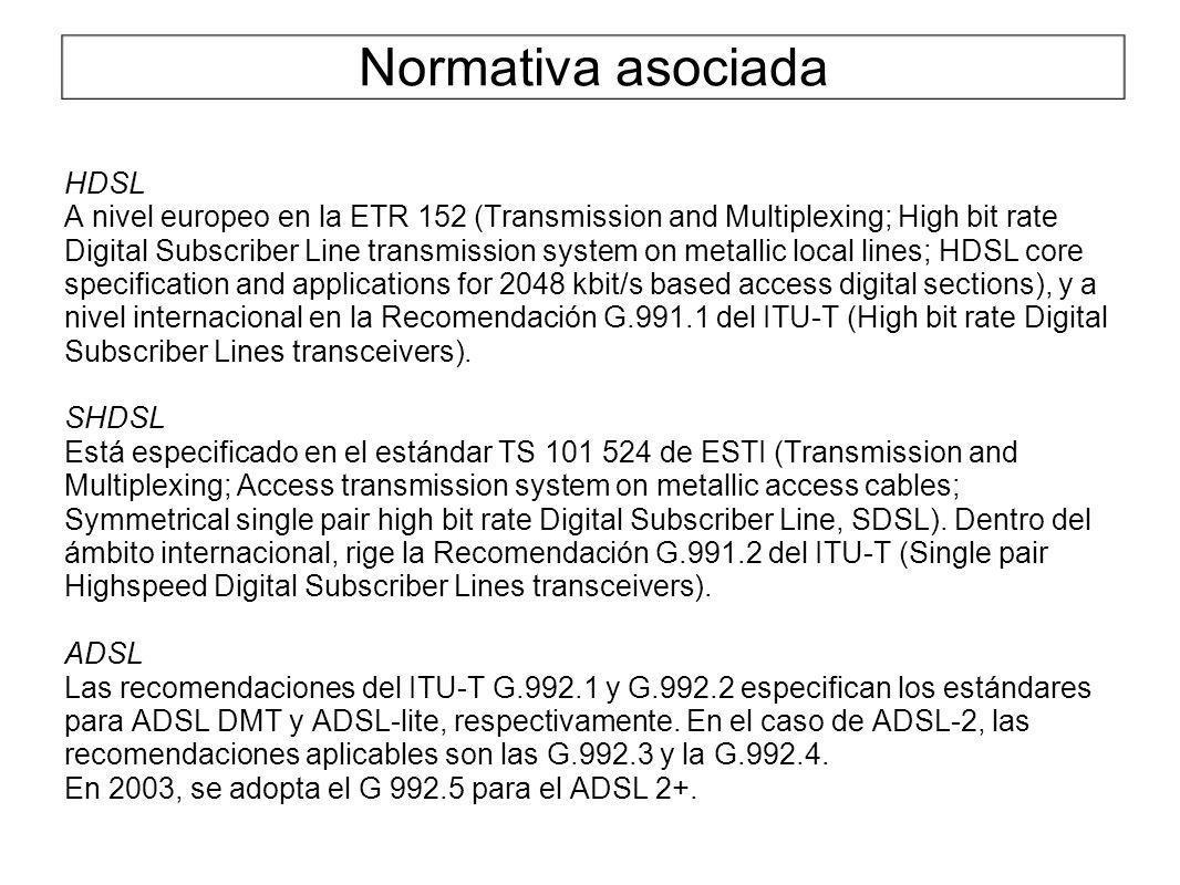Normativa asociada HDSL