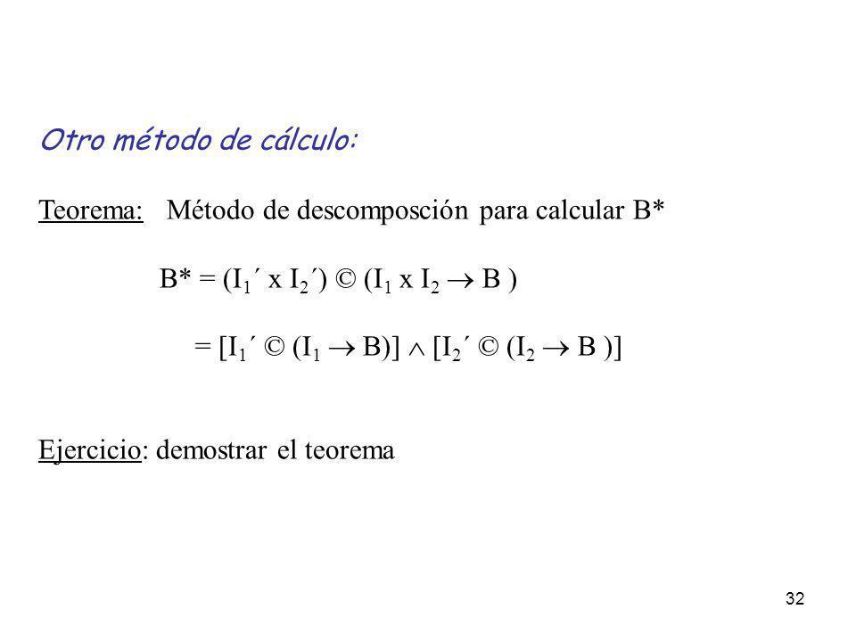 Otro método de cálculo: