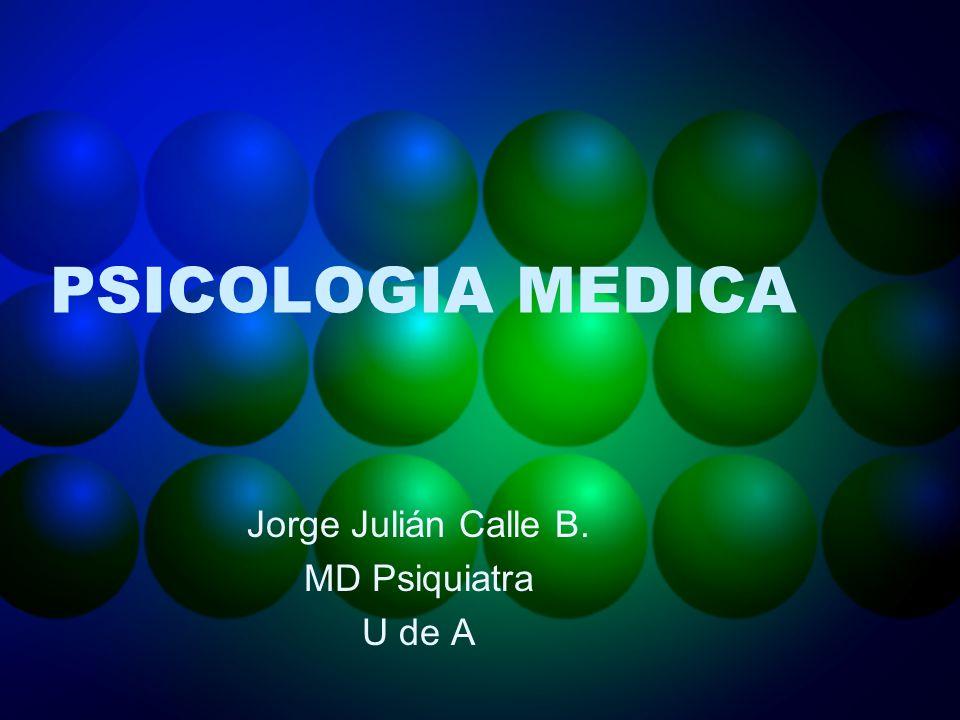 Jorge Julián Calle B. MD Psiquiatra U de A