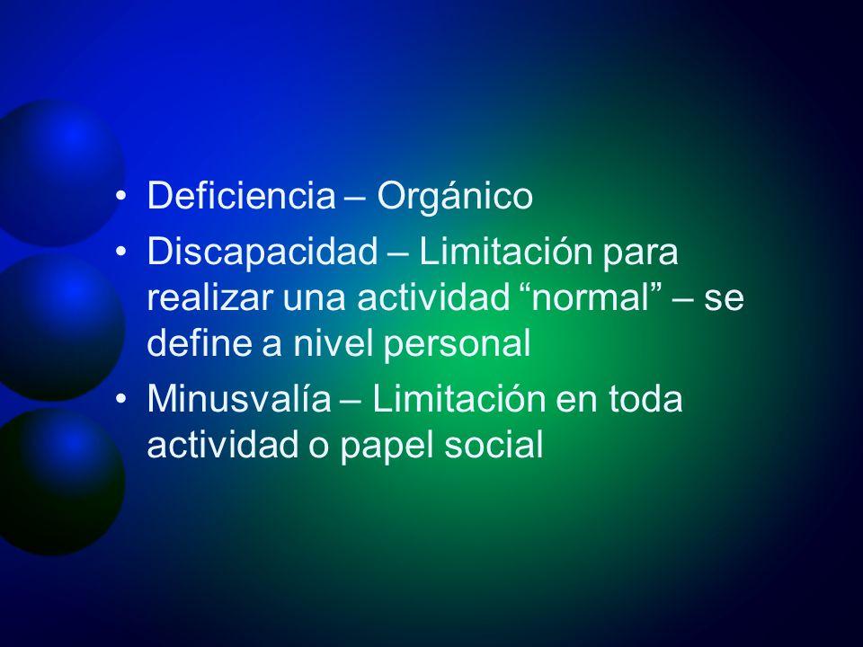 Deficiencia – Orgánico