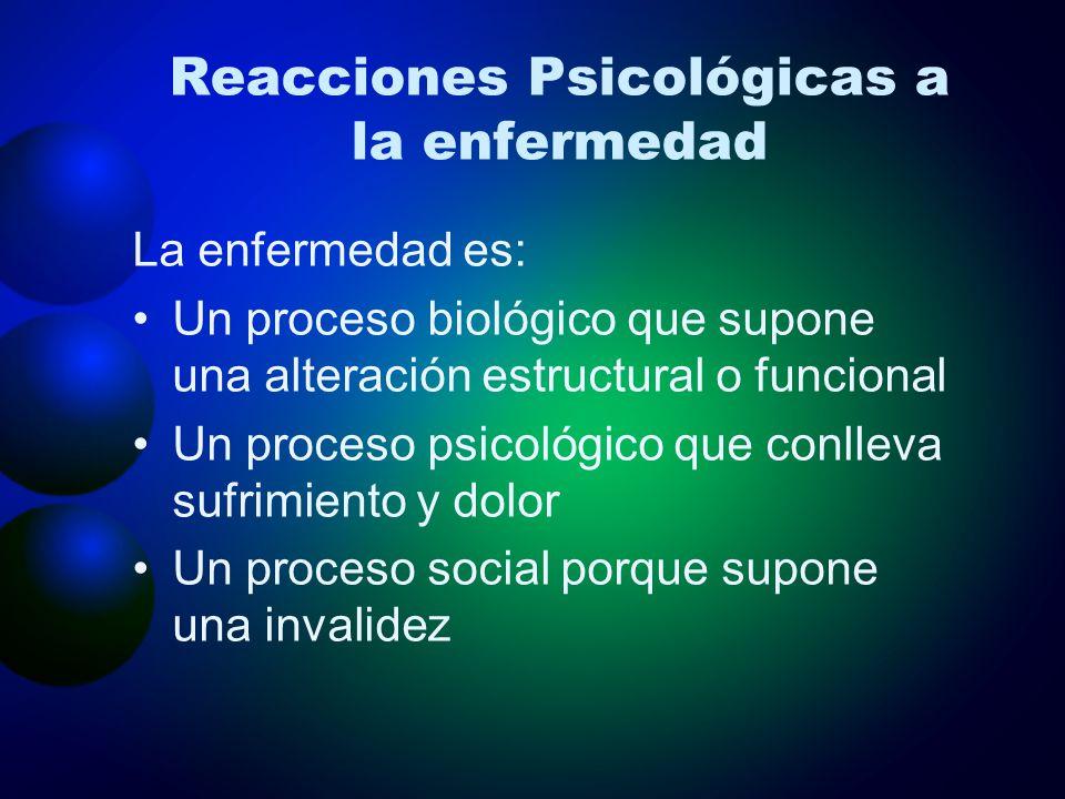 Reacciones Psicológicas a la enfermedad