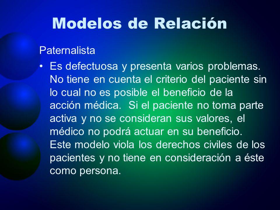 Modelos de Relación Paternalista